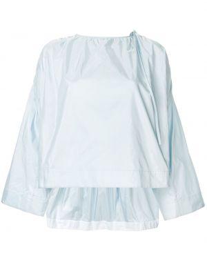Niebieski top z jedwabiu Calvin Klein 205w39nyc