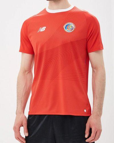 Спортивная футболка красный New Balance