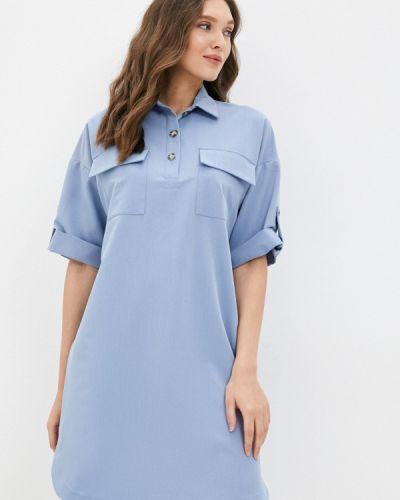 Платье рубашка - голубое Grafinia