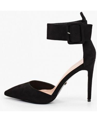 Велюровые черные туфли Ideal Shoes®