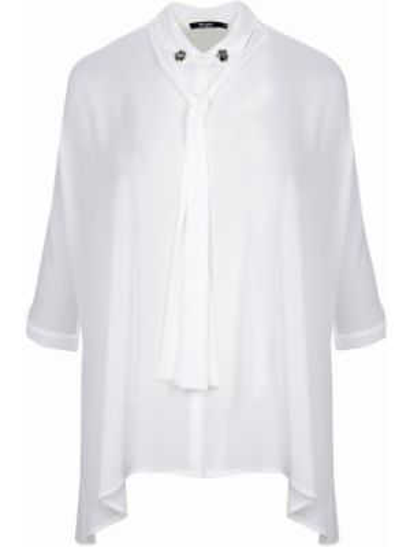 Блузка с коротким рукавом с бантом с воротником свободного кроя с короткими рукавами Mat Fashion
