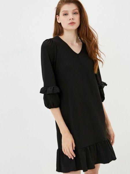 Турецкое черное весеннее прямое платье Lc Waikiki