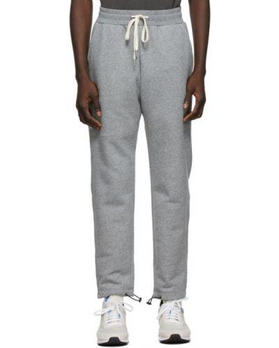 Frotte czarny spodnie z kieszeniami z mankietami John Elliott