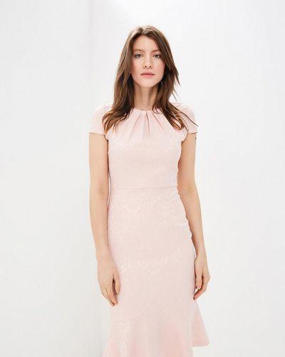 Платье миди розовое мадам т