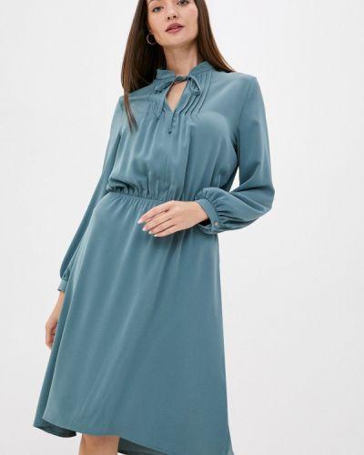 Прямое бирюзовое платье Gregory