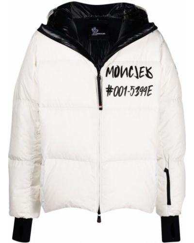 Biała kurtka z kapturem Moncler Grenoble