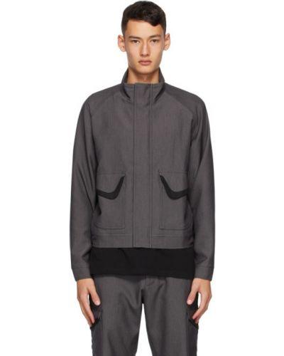Черная длинная куртка с манжетами с карманами с воротником Affix