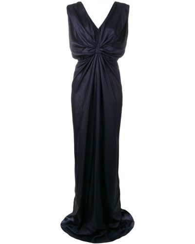Синее вечернее платье на молнии Rhea Costa
