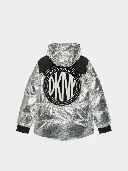 Серая зимняя куртка Dkny