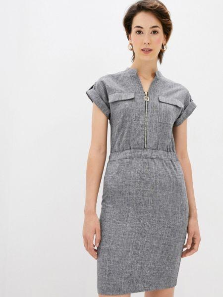 Серое повседневное платье Maurini