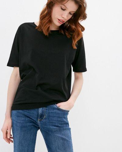 С рукавами черная футболка Q/s Designed By