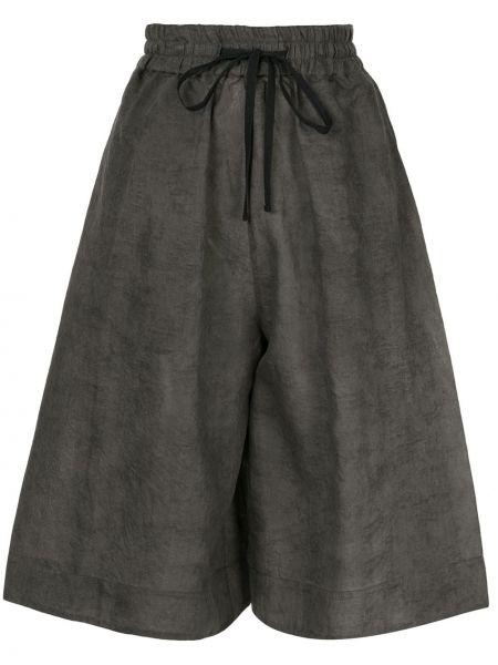 Расклешенные серые хлопковые шорты Toogood