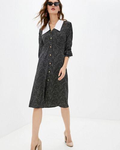 Черное платье-рубашка Imocean