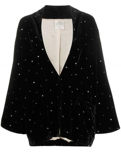 Черная длинная куртка Forte Forte