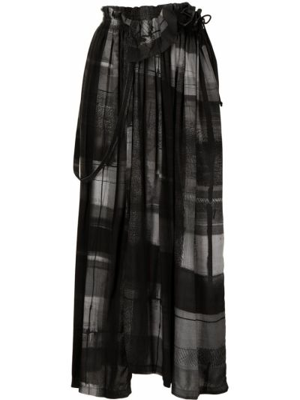 Czarna spódnica w kratę Ys