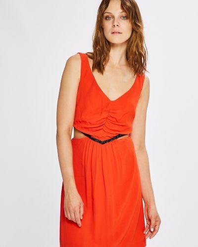 Платье мини с V-образным вырезом с вырезом Morgan