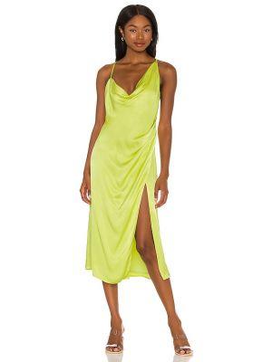 Платье миди из вискозы с драпировкой на молнии Nbd