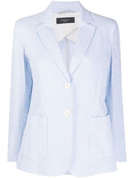 Белая классическая куртка с воротником узкого кроя Weekend Max Mara
