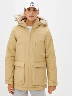 Бежевая куртка осенняя Adidas