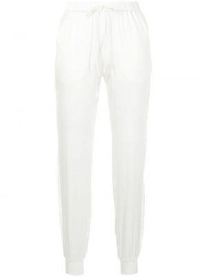 Шелковые белые брюки с карманами Carine Gilson