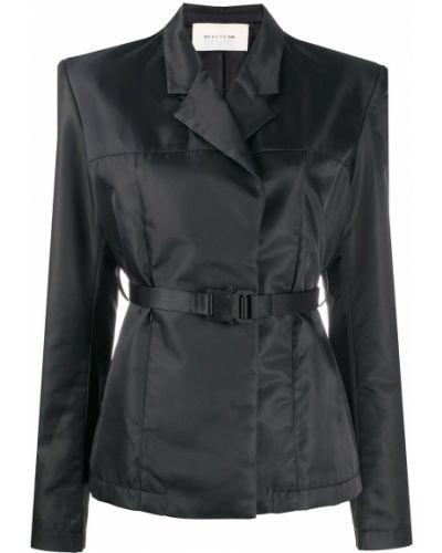 Прямой черный удлиненный пиджак с поясом 1017 Alyx 9sm