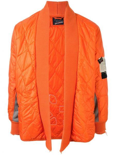 Оранжевая стеганая куртка с воротником Greg Lauren X Paul & Shark