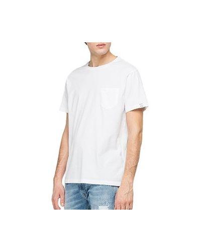 Хлопковая белая футболка Replay