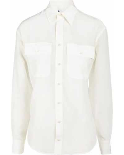 Бежевая блузка приталенная Ralph Lauren