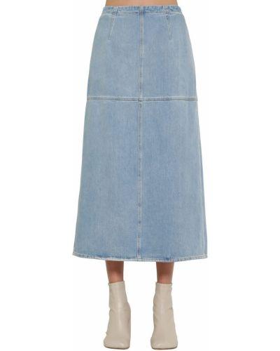 Джинсовая юбка из поплина с молнией сзади Mm6 Maison Margiela
