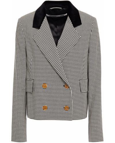 Бархатный черный пиджак двубортный Mcq Alexander Mcqueen