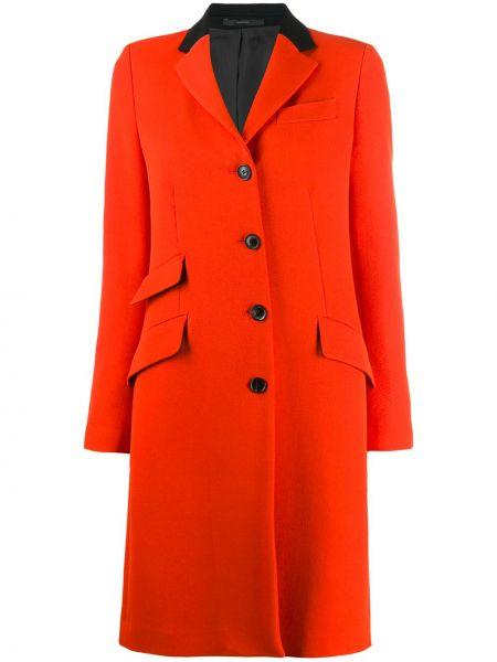 Однобортное пальто классическое на пуговицах с капюшоном Paul Smith
