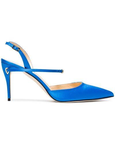 Туфли с открытой пяткой синий Jennifer Chamandi