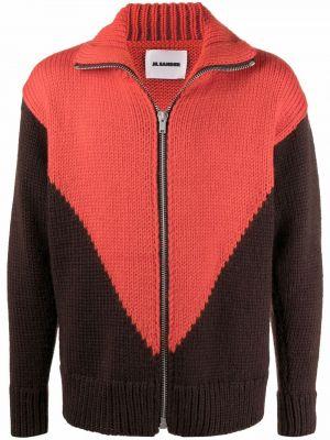 Brązowy sweter moherowy Jil Sander