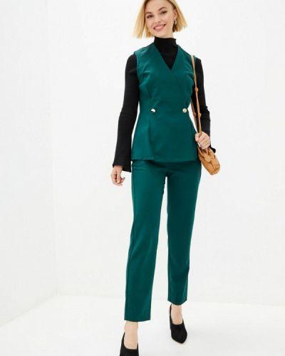 Костюмный зеленый брючный костюм Lilove