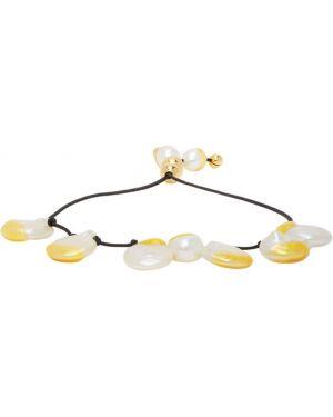 Bransoletka ze złota z perłami srebro Panconesi