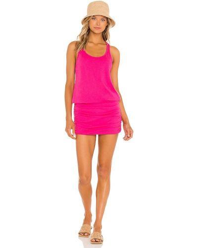 Платье макси длинное - розовое Michael Stars