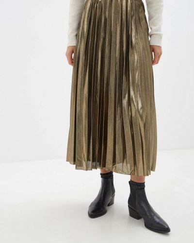 Плиссированная юбка золотой Only