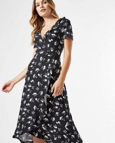 Черное платье с запахом Dorothy Perkins