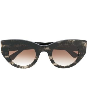 Прямые муслиновые черные солнцезащитные очки Thierry Lasry