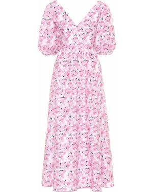 Платье розовое с цветочным принтом Gül Hürgel