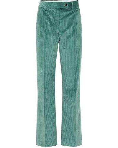 Свободные брюки вельветовые зеленый Acne Studios