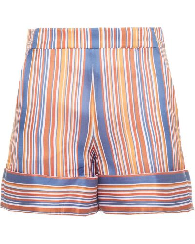 Хлопковые шорты в полоску с карманами Victoria Victoria Beckham