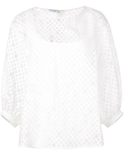 Блузка из органзы белая Akris Punto