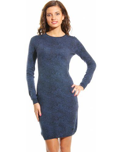 Кашемировое платье - синее Armani Jeans