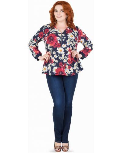 Блузка с манжетами с принтом Darissa Fashion