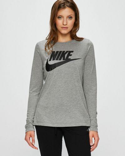 Блузка прямая серая Nike Sportswear
