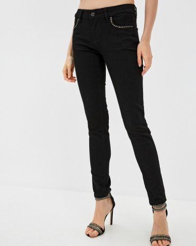 Черные джинсы-скинни узкого кроя Galvanni
