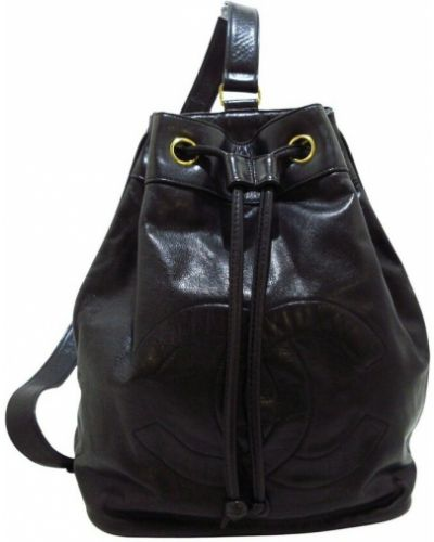 Czarny plecak skórzany Chanel Vintage