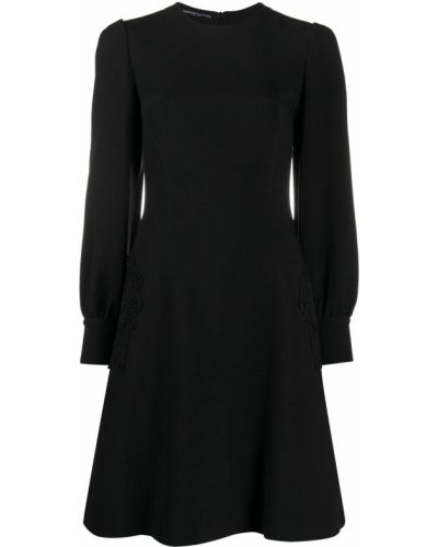 Кружевное черное платье мини с вырезом Ermanno Scervino