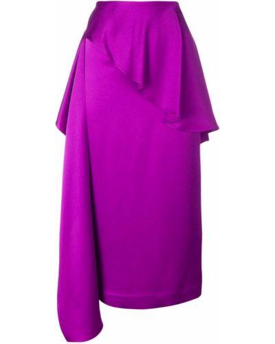 Юбка с завышенной талией - фиолетовая Chalayan